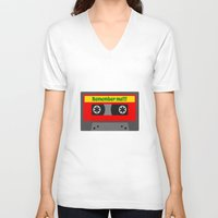 80s V-neck T-shirts featuring 80s by Cassino Woodes
