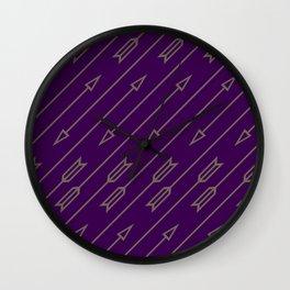 Arrows Flying (Purple) Wall Clock