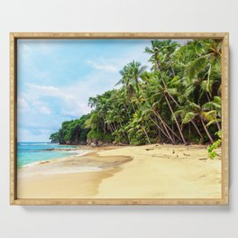 Tropical Beach - Landscape Nature Photography Serving Tray
