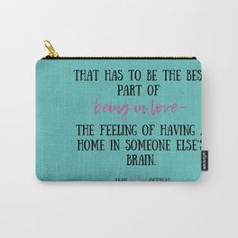 Leah on the Offbeat by Becky Albertalli quote Carry-All Pouch