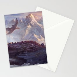 Phenomenal Armored Knights Riding Flying Dragons Ancient Kingdom Ultra HD Stationery Cards