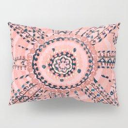 Light Pink Wildflower Sunshine I // 18th Century Colorful Pinkish Dusty Blue Gray Positive Pattern Pillow Sham