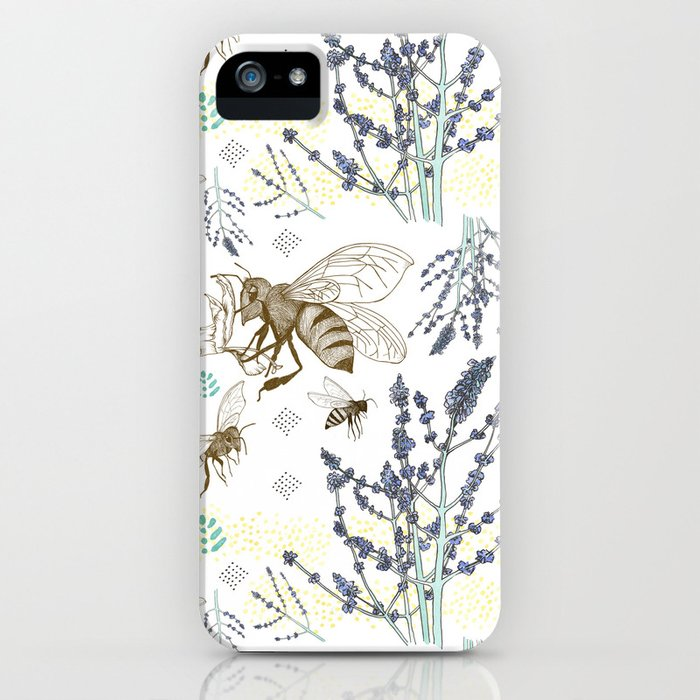 Russian Sage and Bumblebees iPhone Case