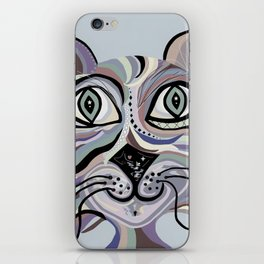 Denim Cat iPhone Skin