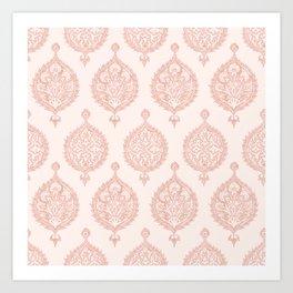 Edana Medallion in Pink Art Print