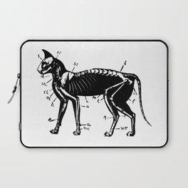 Cat Skeleton Anatomy Laptop Sleeve