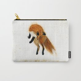 Fox Hop - animal watercolor painting Carry-All Pouch
