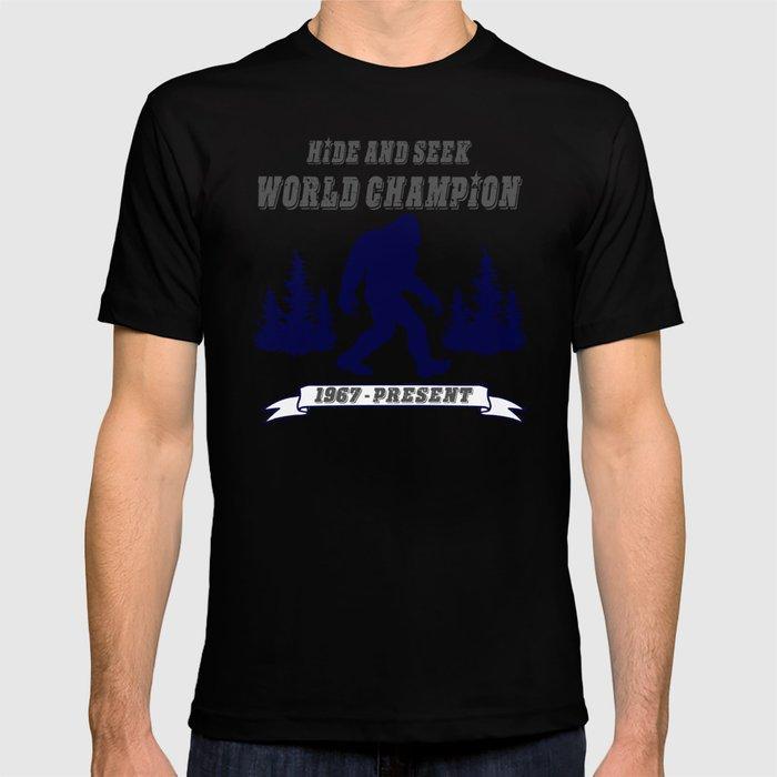91478cac4 Hide and Seek World Champion Bigfoot T-shirt by timmiklos | Society6