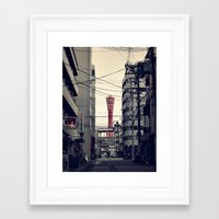 kobe Framed Art Prints featuring Kobe Cables by Dora