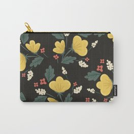 Marguerite Floral Print Carry-All Pouch