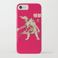 kaiju iPhone & iPod Cases featuring Kaiju Anatomy by MeleeNinja