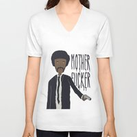 pulp fiction V-neck T-shirts featuring Pulp Fiction by Molnár Roland