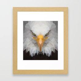 Low Poly Eagle Portrait Framed Art Print