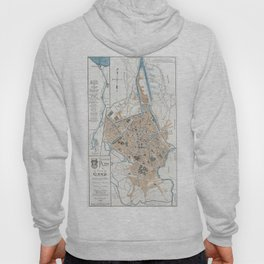 Vintage Map of Ghent Belgium (1905) Hoody