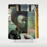 vogue Shower Curtains featuring Vogue Noire by Serapenta Images