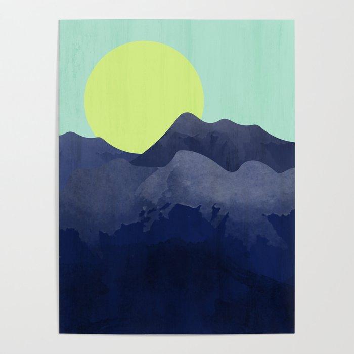 Sunset Mountain Poster