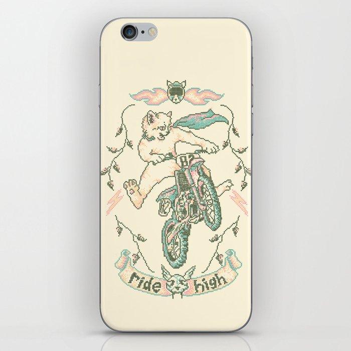 Motocross-Stitch Kitteh iPhone Skin