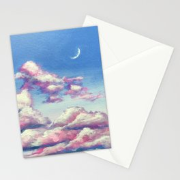Crescent Moonscape Stationery Cards