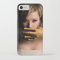 black and gold iPhone & iPod Cases featuring Black & Gold by Levi Price