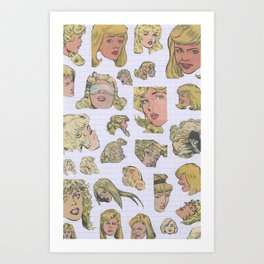 The Blonde Type Art Print