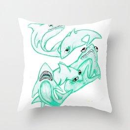 sharkies Throw Pillow