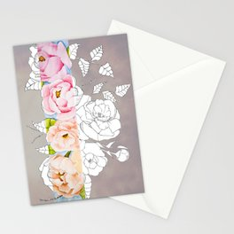Peaoniaceae Stationery Cards