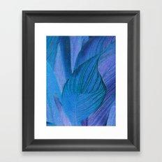 Exotic Leaves with Translucent Floral Pattern Framed Art Print
