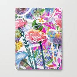 Powerfull flowers Metal Print