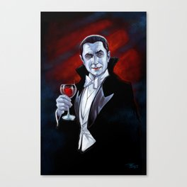 I Never Drink Wine -Dracula Canvas Print