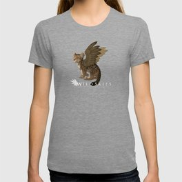 Wildskies cute cartoon leopard with wings T-shirt