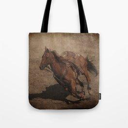 Break Away Rodeo Horse Tote Bag