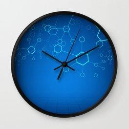 molecules Classic Medicine Medical Terms Comprehensive Study Medical blue Wall Clock