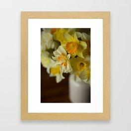 Rustic Spring Flowers Framed Art Print