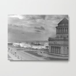 Grant's Tomb and Battleships in Manhattan (1919) Metal Print