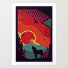 Lone Wolf Art Print