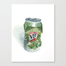 Crushed VB Beer Can - Victoria Bitter Canvas Print