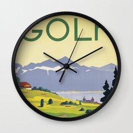 Lausanne Golf Wall Clock