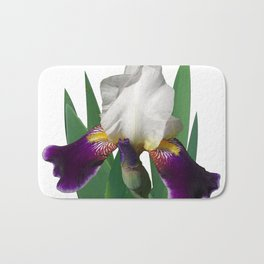 Violet and white Iris 'Wabash' Bath Mat