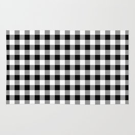 Plaid (black/white) Rug