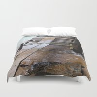 bridge Duvet Covers featuring Bridge by Fresh & Poppy