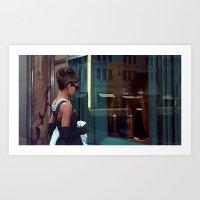 Audrey Hepburn @ Breakfast at Tiffany's Art Print