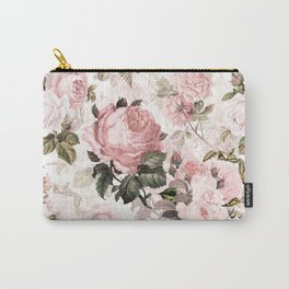 Vintage & Shabby Chic - Sepia Pink Roses  Carry-All Pouch