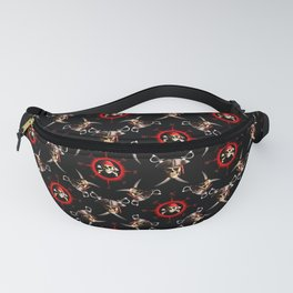 Nautical Pirate Skulls And Swords Fanny Pack