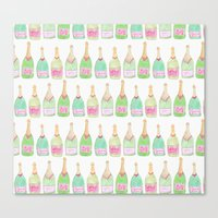 champagne Canvas Prints featuring Champagne by Abby Galloway