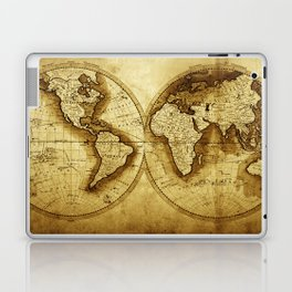 Antique Map of the World Laptop & iPad Skin
