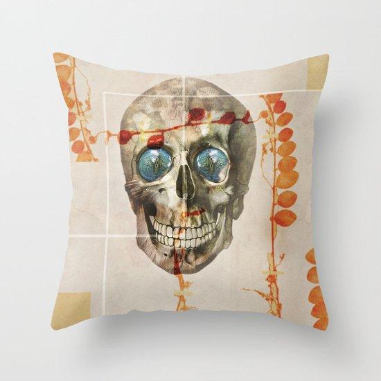 skull#04 Throw Pillow