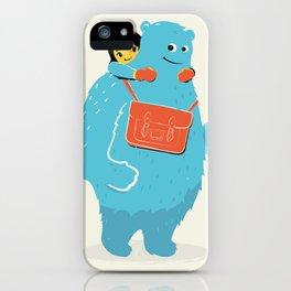 Blue-Monster Piggy-Ride iPhone Case