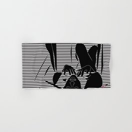 Cindy & George, Freedom 90's Vector Black and White Hand & Bath Towel