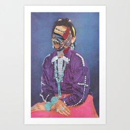Lady Juxtapose Art Print