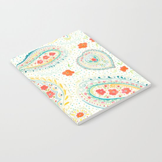 Watercolor Paisley Notebook
